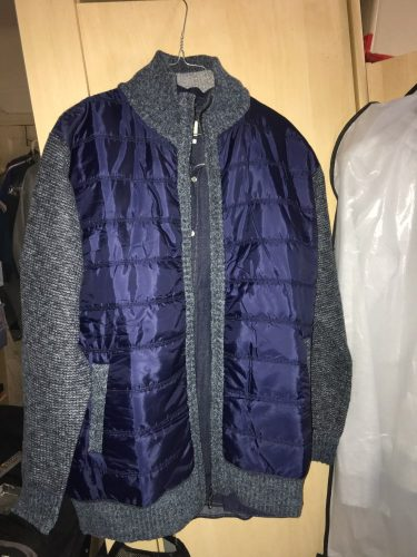 Men's Stitching Colorblock Stand-collar Coat photo review