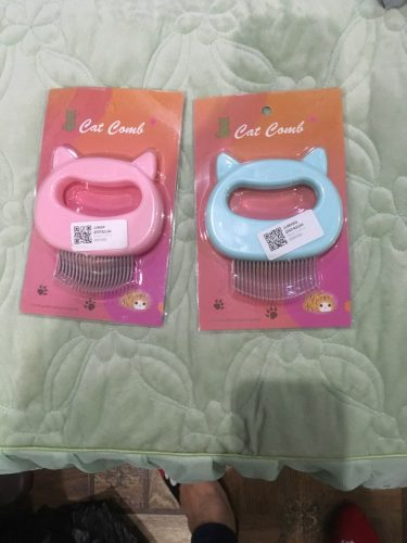 Cat Hair Removal Massaging Shell Comb - leospaw photo review