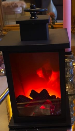 Flameless Fireplace Lamp - theluckyforestshop photo review