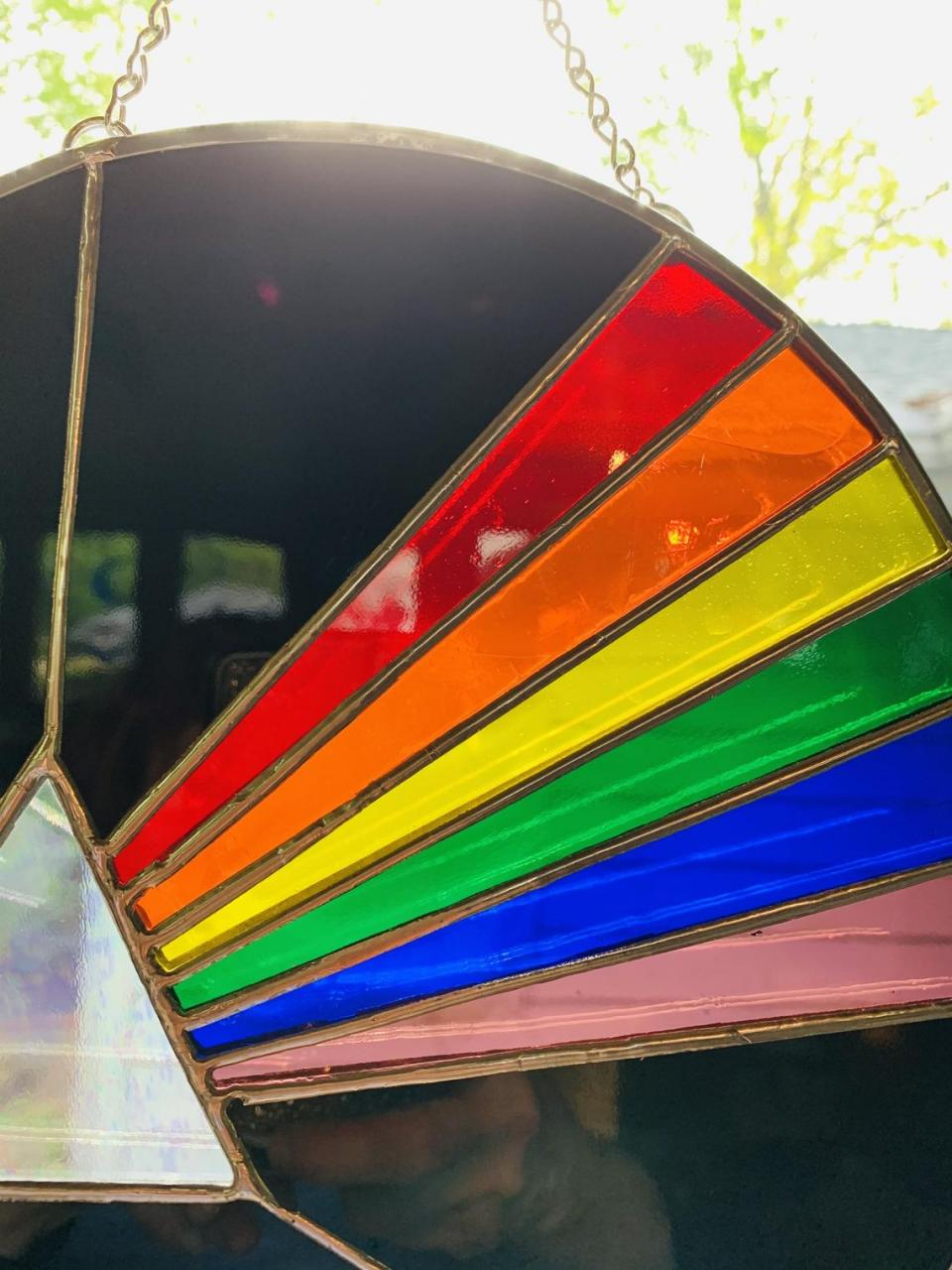 10 Pink Floyd Suncatcher/ Dark side of the moon/ prism with image 4